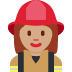 👩🏽‍🚒 woman firefighter: medium skin tone Emoji on Twitter Platform