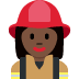 👩🏿‍🚒 woman firefighter: dark skin tone Emoji on Twitter Platform