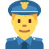 👮 police officer Emoji on Twitter Platform