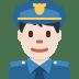 👮🏻 police officer: light skin tone Emoji on Twitter Platform