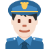 👮🏻‍♂️ man police officer: light skin tone Emoji on Twitter Platform