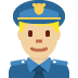 👮🏼‍♂️ man police officer: medium-light skin tone Emoji on Twitter Platform