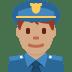 👮🏽♂️ man police officer: medium skin tone Emoji on Twitter Platform