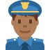 👮🏾‍♂️ man police officer: medium-dark skin tone Emoji on Twitter Platform