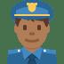 👮🏾♂️ man police officer: medium-dark skin tone Emoji on Twitter Platform