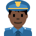 👮🏿‍♂️ man police officer: dark skin tone Emoji on Twitter Platform