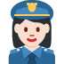 👮🏻‍♀️ woman police officer: light skin tone Emoji on Twitter Platform