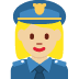 👮🏼‍♀️ woman police officer: medium-light skin tone Emoji on Twitter Platform