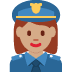 👮🏽‍♀️ woman police officer: medium skin tone Emoji on Twitter Platform