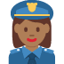 👮🏾♀️ woman police officer: medium-dark skin tone Emoji on Twitter Platform