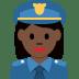👮🏿♀️ woman police officer: dark skin tone Emoji on Twitter Platform