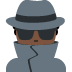 🕵🏿 detective: dark skin tone Emoji on Twitter Platform