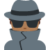 🕵🏾♂️ man detective: medium-dark skin tone Emoji on Twitter Platform