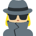 🕵🏼♀️ woman detective: medium-light skin tone Emoji on Twitter Platform