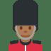 💂🏾 guard: medium-dark skin tone Emoji on Twitter Platform