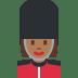 💂🏾♀️ woman guard: medium-dark skin tone Emoji on Twitter Platform