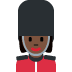💂🏿‍♀️ woman guard: dark skin tone Emoji on Twitter Platform