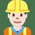 👷🏻 construction worker: light skin tone Emoji on Twitter Platform