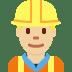 👷🏼 construction worker: medium-light skin tone Emoji on Twitter Platform
