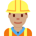 👷🏽 construction worker: medium skin tone Emoji on Twitter Platform