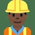 👷🏿 construction worker: dark skin tone Emoji on Twitter Platform