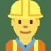 👷♂️ man construction worker Emoji on Twitter Platform