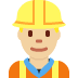 👷🏼♂️ Medium Light Skin Tone Male Construction Worker Emoji on Twitter Platform