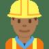 👷🏾♂️ man construction worker: medium-dark skin tone Emoji on Twitter Platform