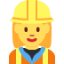 👷‍♀️ woman construction worker Emoji on Twitter Platform