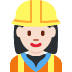 👷🏻‍♀️ woman construction worker: light skin tone Emoji on Twitter Platform