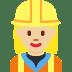 👷🏼♀️ woman construction worker: medium-light skin tone Emoji on Twitter Platform
