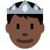 🤴🏿 prince: dark skin tone Emoji on Twitter Platform