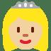 👸🏼 princess: medium-light skin tone Emoji on Twitter Platform