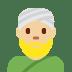 👳🏼 person wearing turban: medium-light skin tone Emoji on Twitter Platform