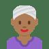 👳🏾♀️ woman wearing turban: medium-dark skin tone Emoji on Twitter Platform