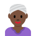 👳🏿‍♀️ woman wearing turban: dark skin tone Emoji on Twitter Platform