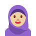 🧕🏼 woman with headscarf: medium-light skin tone Emoji on Twitter Platform