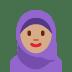 🧕🏽 woman with headscarf: medium skin tone Emoji on Twitter Platform
