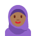 🧕🏾 woman with headscarf: medium-dark skin tone Emoji on Twitter Platform