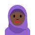 🧕🏿 woman with headscarf: dark skin tone Emoji on Twitter Platform