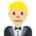 🤵🏼 man in tuxedo: medium-light skin tone Emoji on Twitter Platform