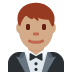 🤵🏽 man in tuxedo: medium skin tone Emoji on Twitter Platform