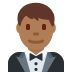 🤵🏾 man in tuxedo: medium-dark skin tone Emoji on Twitter Platform