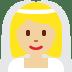 👰🏼 bride with veil: medium-light skin tone Emoji on Twitter Platform