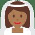👰🏾 bride with veil: medium-dark skin tone Emoji on Twitter Platform