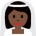 👰🏿 bride with veil: dark skin tone Emoji on Twitter Platform