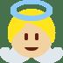 👼🏼 baby angel: medium-light skin tone Emoji on Twitter Platform