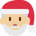 🎅🏼 Santa Claus: medium-light skin tone Emoji on Twitter Platform