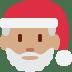 🎅🏽 Santa Claus: medium skin tone Emoji on Twitter Platform