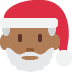 🎅🏾 Santa Claus: medium-dark skin tone Emoji on Twitter Platform